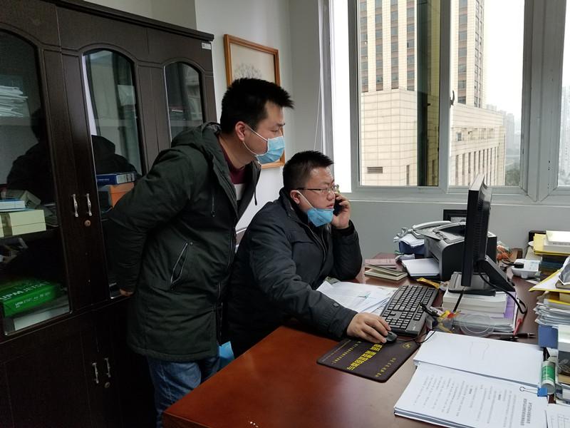 1月31日统计与发展研究部刘小利同志协助委机关新冠肺炎物资保障组开展统计工作